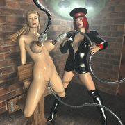 Horny 3D tentacle monster attack girls