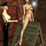 Spanked sex slaves please their masters