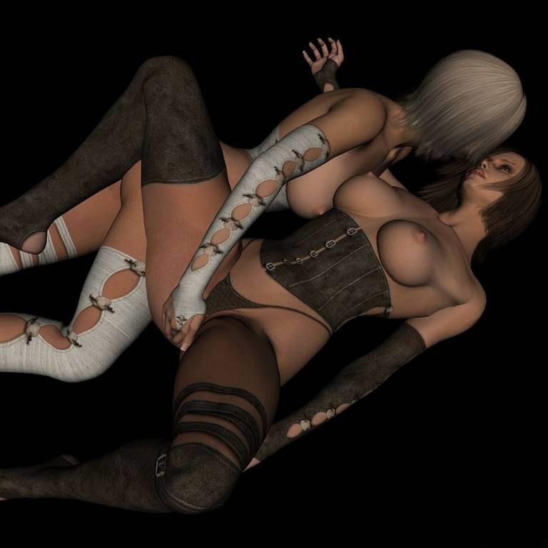 Gorgeous 3D Lesbian Pictures