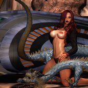 Fantasy sex art in all its beauty - monsters, dragons, hot girls