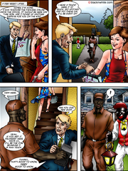 Examine this hot interracial sex comic