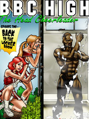 Fetish Interracial toons Two hot blondes: Hunt for big black cocks 1