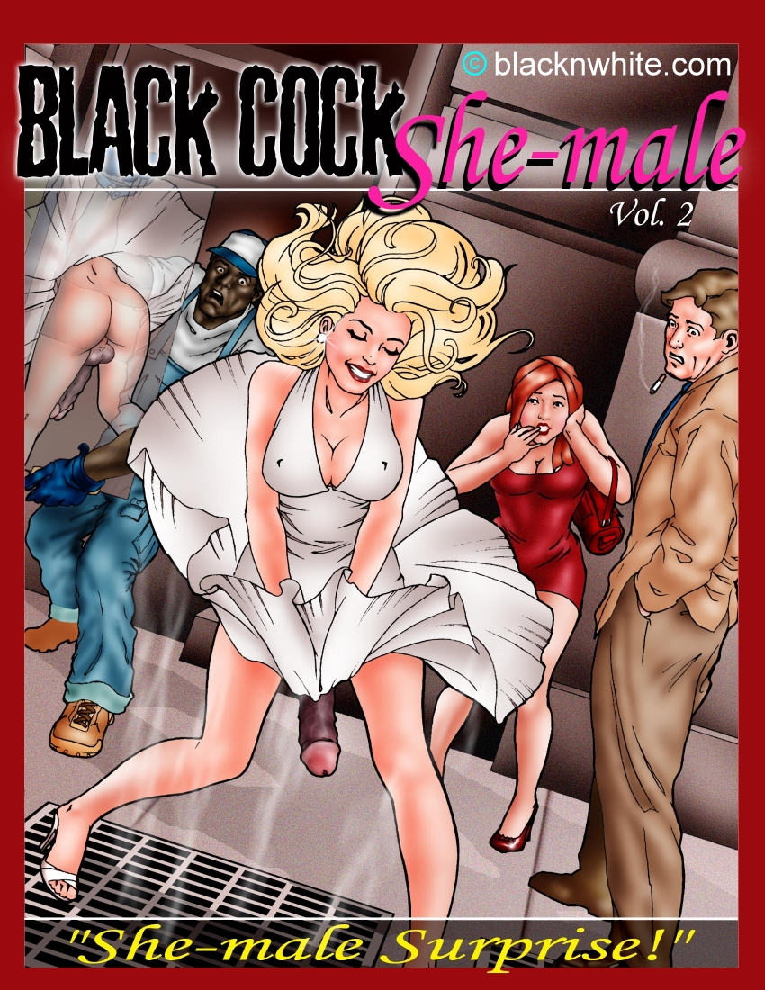blonde shemale with black cock - adult comix
