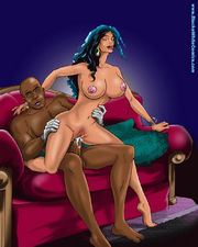 Ebony boy shows no mercy to the stunning white vagina