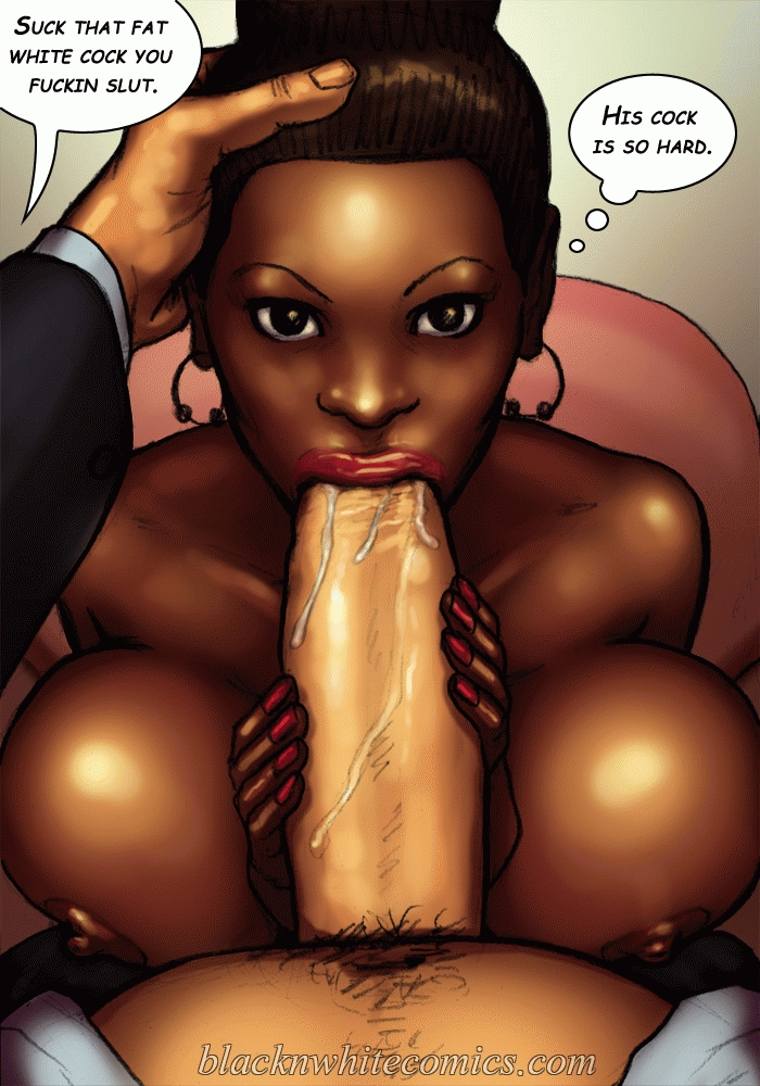 Secretary sucks ebony