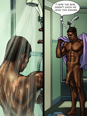 Hot interracial comics with creamy skinned girls sucking hard black dicks.