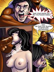 Sexy white women makes a blowjob for a black men