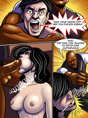 Veiny black boner gets shoved into her tight ass