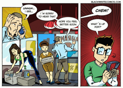 Delivery boy gets into trouble - sex comic