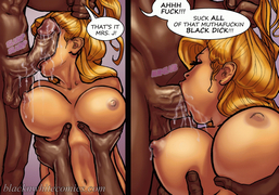 Curvy white bitch rides hard black dick