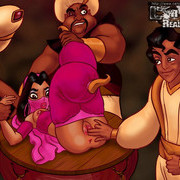 Aladdin and Princess Jasmine fucked
