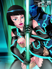 Babes from the world of Tron - cartoon xxx parody