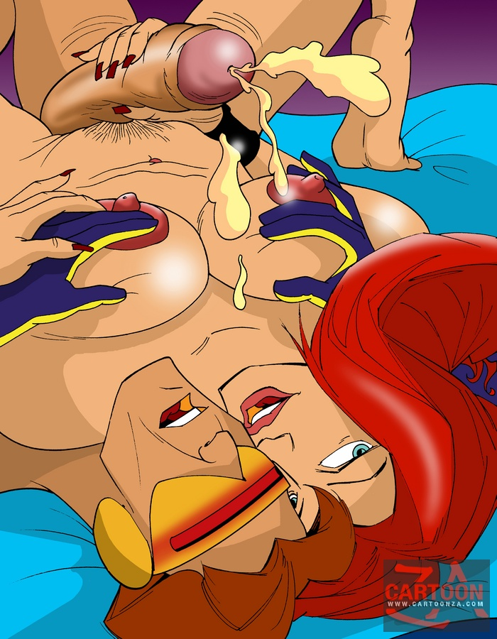 Cum In Cartoon Porn - Jean Grey Riding Cyclops's Cock - Cartoon Sex