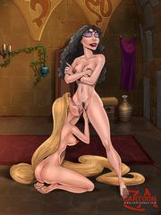 Rapunzel sex parody - lesbian and staraight