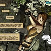 Gorgeous Lara Croft in comics