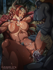 Big jugged hentai slut getting screwed hard