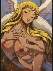 Sucking her red nipples makes this anime girl gush milk