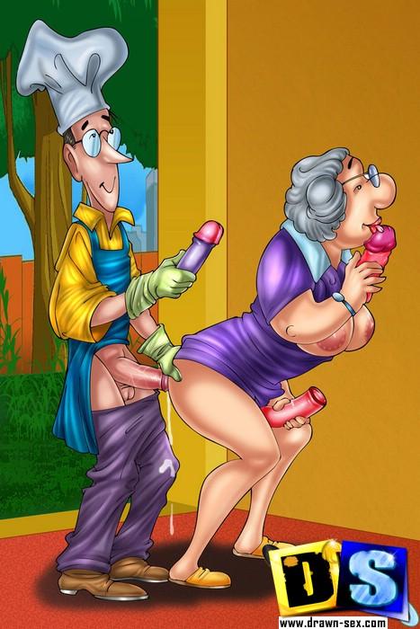 мультики секс бабушки порно