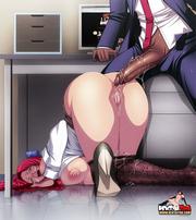 Anime Babe masturba - imágenes yuri