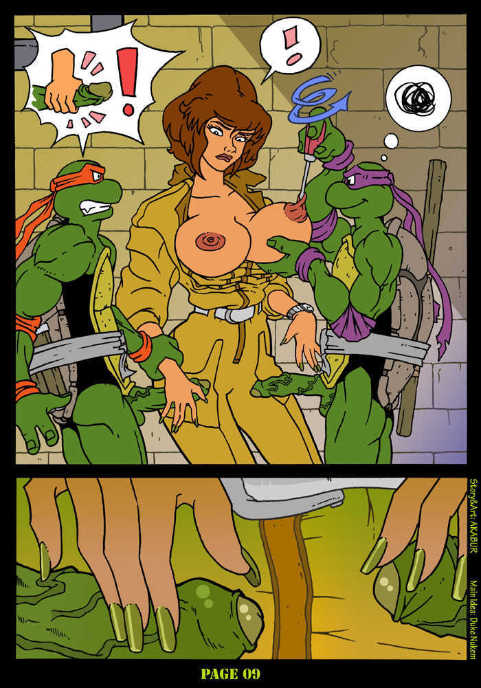 April Oneil Cartoon Tits - Tmnt And The Slut From Channel Six