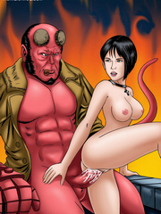 Hellboy totally fuck in cartoons