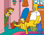 Homer Simpson cartoon sex