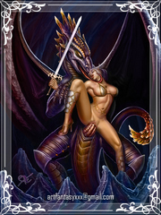 Fantasy Queens and gorgeous warrior babes spread their legs for hard monster cocks.