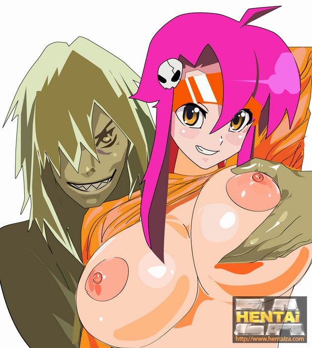 Yoko Litter naked with huge boobs and big butt from Gurren Lagreen