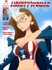 Sexy Liberty superhero cartoon porn comix