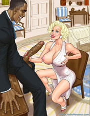 Interracial sex with big boobed blonds