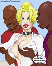 Free sex comic Two hot blondes: Bet on big black cocks 19