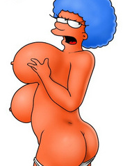 Simpsons cartoon sex big mature boobs