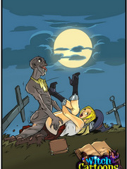 Hardcore fucking with a witch sex comic