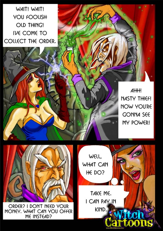 Adult comic porn witches