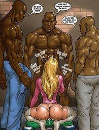 Interracial story with blonde and monster cocks