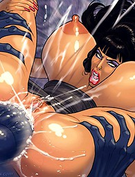 Hottest hardcore interracial comics, beauties with huge melons covered with semen.