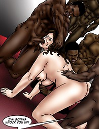 Black guys fuck with and cum on fat white whores, blow job included