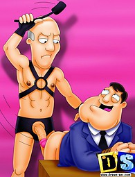 American Dad's adultery and punishment. American Dad cheats his wife and gets a gay punishment