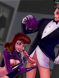 Batman's little slut. Batman's hoochie deals with king-size love clubs