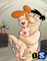 Flintstones going hardcore. Fred Flintstone fucking with Wilma and trying swinging sex