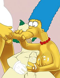 Marge from the Simsons cartoon sucking dick,  Marge fucking with a horny clown
